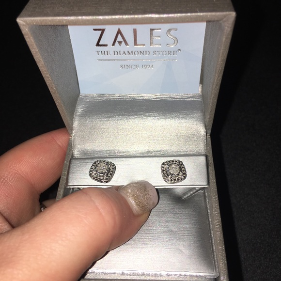 bbb9a28bc5aa7 Diamond Accent Cushion Stud Earrings from Zales